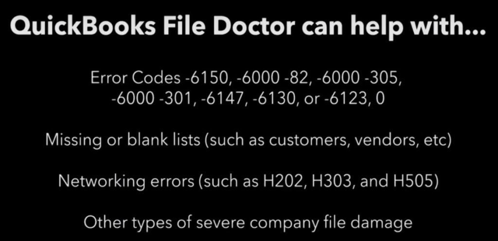 Issues and Errors Faced: QuickBooks File Doctor
